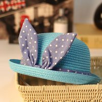 Baby Girl's Polka Dotted Bowknot Hat
