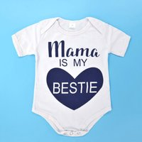 Cute Letter Print Bodysuit in White for Baby