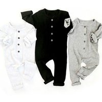 Comfy Solid Ling-sleeve Jumpsuit for Baby Boy