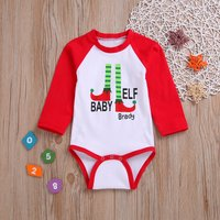 Casual Letter Print Long-sleeve Bodysuit for Baby
