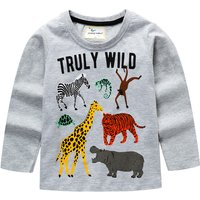 Fashionable Animal Print Long-sleeve Tee for Toddler Boy and Boy