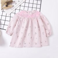 Sweet Embroidered Floarl Long Sleeves Mesh Dress for Baby Girl