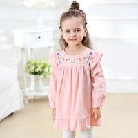 Sweet Embroidered Flounced Dress for Baby and Toddler Girl