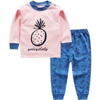 Fresh Pineapple Print Top and Pants Set for Baby Girl