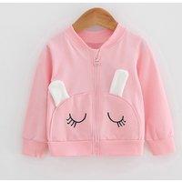 Adorable Rabbit Design Solid Coat for Baby Girl