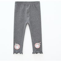 Lovely Solid Appliqued Leggings for Baby and Toddler Girl