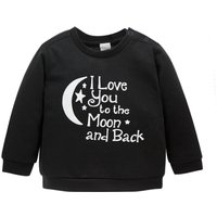 TO THE MOON Printed Long-sleeve Pullover for Baby