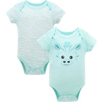 2-pack Fresh Short-sleeve Bodysuit in Green for Baby
