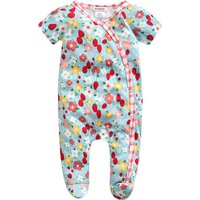 Pretty Strawberry Pattern Short-sleeve Jumpsuit for Baby Girl