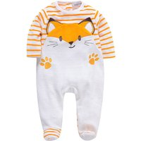 Cuddly Fox Embroidered Fleece Footie Jumpsuit for Baby