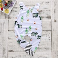 Baby's Cute Bear Pattern Sleeveless Jumpsuit