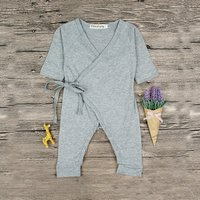 Stylish Solid Wing Design Long-sleeve Jumpsuit for Baby