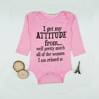Fun Letter Print Long-sleeve Romper in Pink for Baby Girl