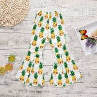 Fresh Pineapple Patterned Flare Pants for Toddler Girl and Girl