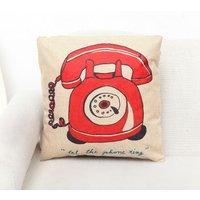 Old Telephone Print Cushion Pillowcase
