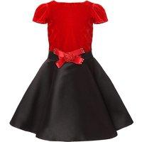 Vintage Velet Short-sleeve 3D Flower Decor Dress for Girls