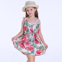 Toddler Girl's Allover Floral Printed Strap Dress