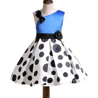 Graceful Polka Dots One-shoulder Sleeveless Party Dress for Toddler Girls