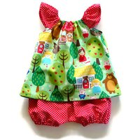 2-piece Animal Tank Top and Polka Dotted Pantie Set for Baby Girl