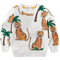 Handsome Tiger Printed Long-sleeve Tee for Toddler Boy and Boy