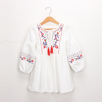 Delicate Embroidered Long-sleeve Dress for Toddler Girl and Girl