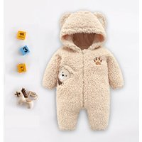 Trendy Bear Design Long-sleeve Jumpsuit for Baby
