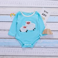 Lovely Sheep Design Long-sleeve Bodysuit for Baby