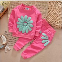 Pretty Sunflower Decor Pullover and Pants Set for Baby and Toddler Girl