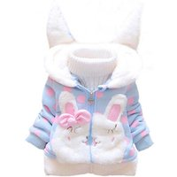 Lovely Rabbit Design Dotted Coat for Baby and Toddler Girl (Not Include Sweater)