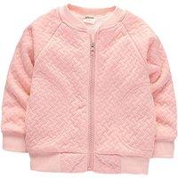 Warm Solid Zip-up Fleeced Coat for Baby