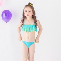 2-piece Sweet Tassel Bikini Set for Baby Girl and Girl