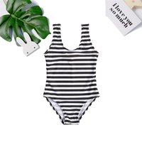 Simple Striped One-piece Swimsuit