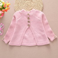 Comfy Solid Cloak Design Knitted Sweater for Toddler Girl and Girl