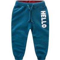 Warm HELLO Appliqued Pants for Toddler and Kid