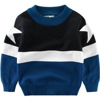 Stylish Star Knitted Long Sleeve Sweater for Baby Boy