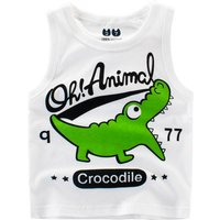 Lovely Crocodile Print Tank Top for Toddler Boy and Boy