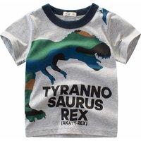 Trendy Dinosaur Print Short-sleeve Tee for Toddler Boy and Boy