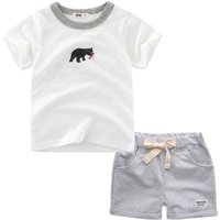 Trendy Printed Tee and Shorts Set for Toddler Boy and Boy