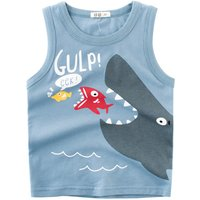 Fashionable Fish Print Tank Top for Toddler Boy and Boy