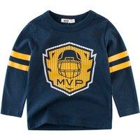 Fashionable Baseball MVP Print Long-sleeve Tee for Toddler Boy and Boy
