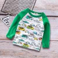 Trendy Car and Bus Pattern T-shirt for Baby and Toddler Boy