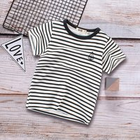 Baby Boy & Boy Anchor Striped Tee