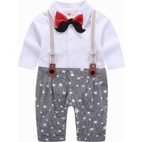 Graceful Stylish Faux-two Star and Striped Jumpsuit for Baby Boy