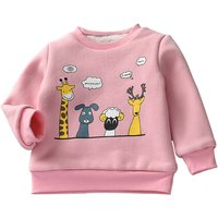 Cute Animal Friends Print Long Sleeves Pullover for Baby