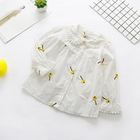 Baby and Toddler's Flower Embroidery Lace-trimmed Shirt