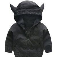 Little Devil Design Solid Hooded Coat for Baby