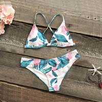 2-piece Stylish Floral Bikini Set for Women