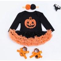 3-piece Happy Halloween Tutu Bodysuit Set for Baby Girl