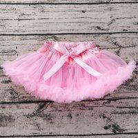 Solid Ruffled Tutu Skirt for Newborn and Baby Girl