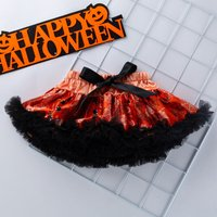 Stylish Halloween Graphic Patterned Skirt for Baby Girl